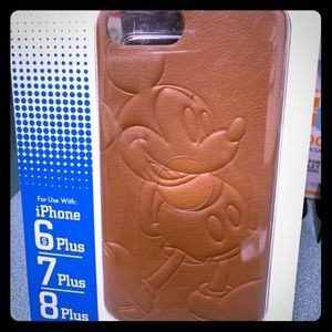 NIB MICKEY MOUSE IPHONE CASE FOR 6,7,8 +